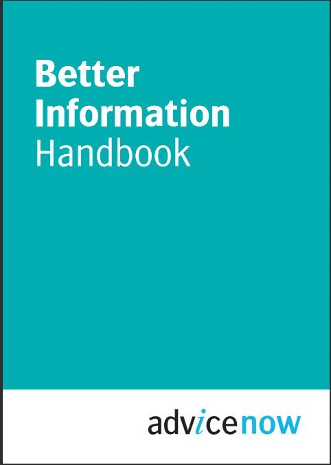 Front cover of Better information Handbook